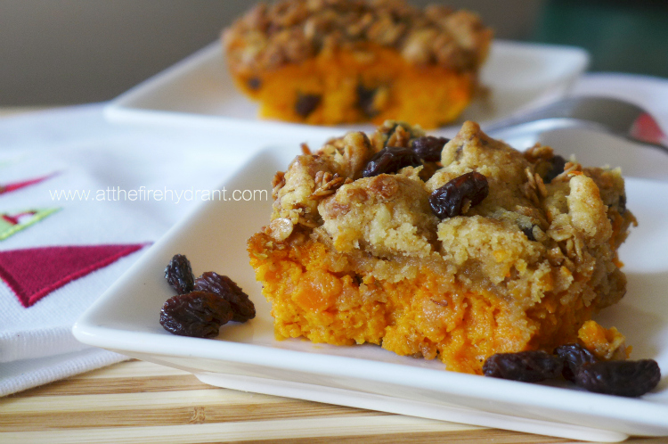 Carrot and Granola Dessert Casserole - At The Fire Hydrant #DulcesPasas #spon