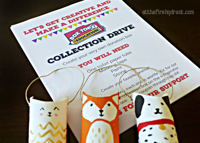 Let's Get Creative and Make a Difference with Box Tops - At The Fire Hydrant #BTFE