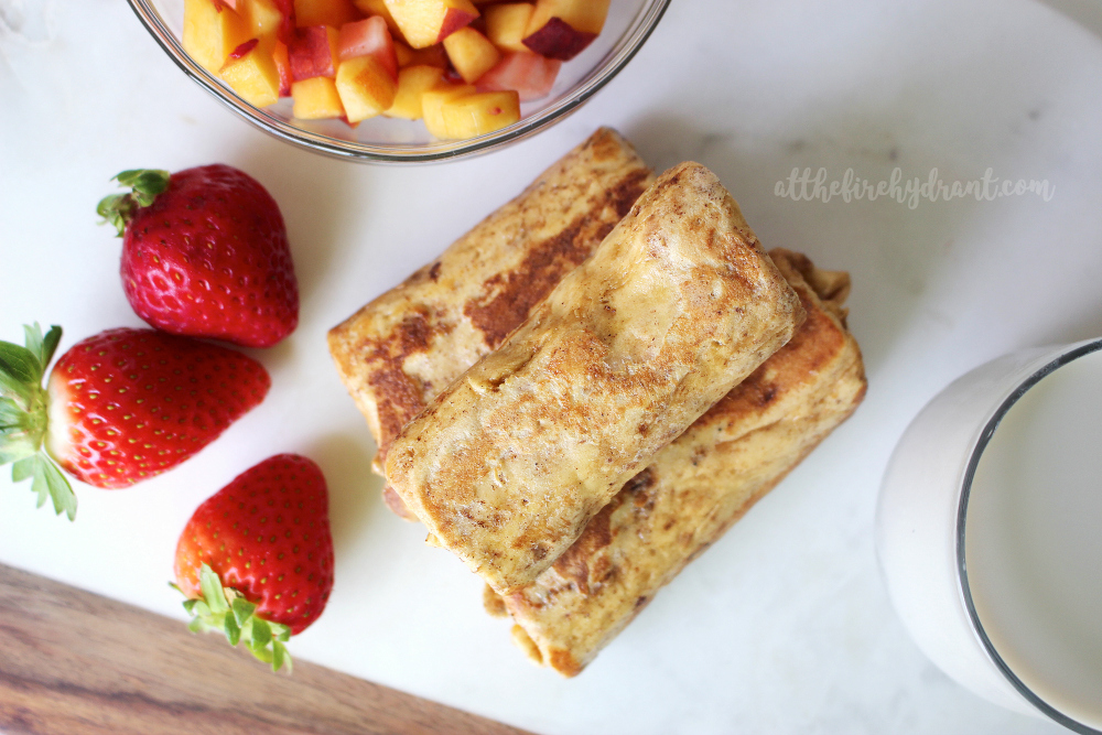 Fruit and Praline Pecan Stuffe French Toast Wraps - At The Fire Hydrant 1