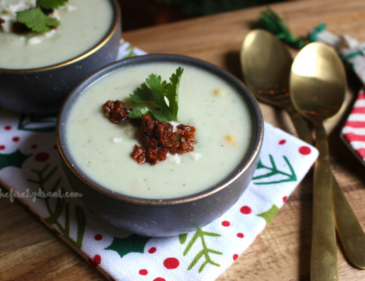 Cauliflower Avocado Soup with Cacique #GoAutentico #ad